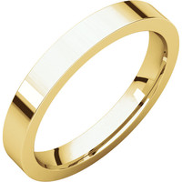 11 10k Yellow Gold 3mm Flat Comfort Fit Wedding Band Ring - Bridal Jewelry Wedding-bands: 11