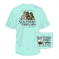 Southern Fried Cotton T Shirt Best Friends in Chalky Mint