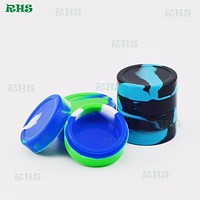 10pcs Free shipping 22ml silicone jars dab wax container/silicone wax container from RHS Aliexpress