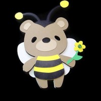 Teddy Bear Bumble Bee Kids Cards Animal Cards on Handmade Artists' Shop