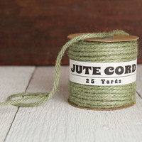 Macrame Cord - 5 Ply Jute, Moss Green Rope, 25 Yards
