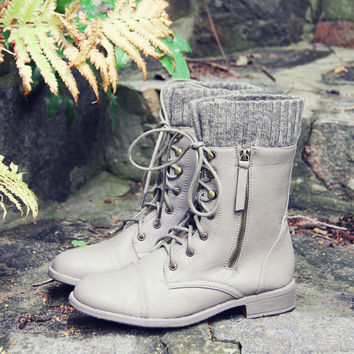Heirloom Sweater Boots in Taupe