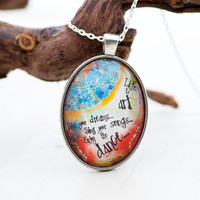 Art Pendant Jewelry, Art Teacher Gift, Gifts For Artists, Artist Gift, Art Quotes, Quote Art, Boho Jewellry Necklace, Inspirational Quote