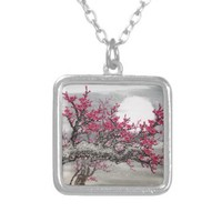 Cherry Blossom Necklace from Zazzle.com