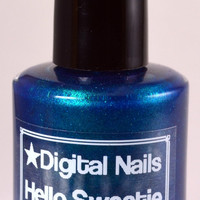Hello Sweetie : Doctor River Song and Doctor Who inspired matte deep teal nail textured polish by Digital Nails