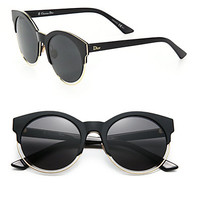 Sideral 53MM Round Sunglasses - Zoom - Saks Fifth Avenue Mobile