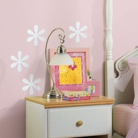 Mirrored Flower Wall Stickers (Silver)