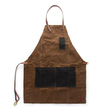 The Charles Waxed Canvas Apron