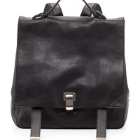PS Large Leather Backpack, Black - Proenza Schouler