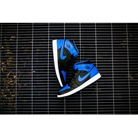 Air Jordan 1 Mid (Black/Team Orange-Signal Blue)