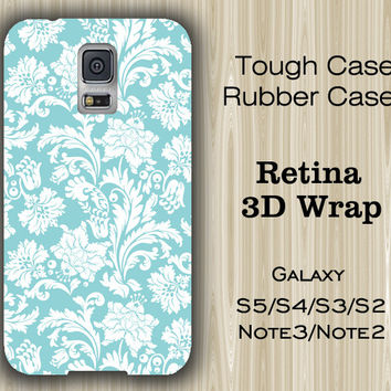 Light Blue Floral Pattern Samsung Galaxy S5/S4/S3/Note 3/Note 2 Case
