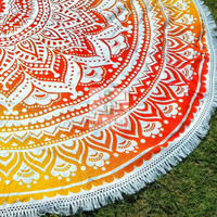 Round tablecloth, beach throw mandala, roundie mandala tapestry, psychedelic mandala, hippie boho beach style, garden party decor 3052