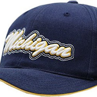 Michigan University Navy Run Around Buckle Back Cap - 8147