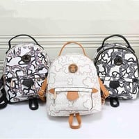 """""""TOUS"""" Fashion Print Small Backpack Women Casual Double Shoulder Bag"""