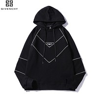 Givenchy Newest Trending Women Men Stylish Embroidery Hoodie Sweater Top Sweatshirt Black