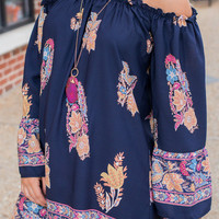 Just Boho With It Dress, Navy