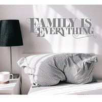 Vinyl Wall Decal Home Lettering Family Everything Motivation Stickers Mural 35 in x 10 in Grey gz312