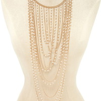 Faux Pearl Statement Necklace   Forever 21 - 1000205096