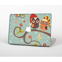 """The Retro Christmas Owls with Ornaments Skin Set for the Apple MacBook Pro 13"""" with Retina Display"""
