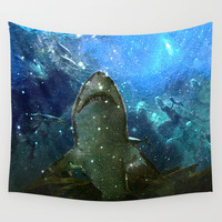 The Great White Marine Lava Lamp Wall Tapestry by Distortion Art