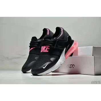 Samplefine2 NIKE AIR MAX 270 2018 new rear half palm atmospheric cushion shock absorption sports running shoes Black
