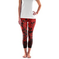 Skull Leggings - Halloween Skull Leggings - Womens and Mens