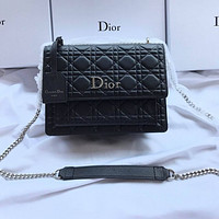 DIOR Fashion Women Shopping Bag Leather Shoulder Bag Crossbody Satchel