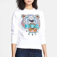 KENZO Embroidered Tiger Cotton Sweatshirt