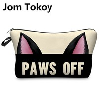 Jom Tokoy 3D Printing Makeup Bags  Cartoon animal pattern  Cosmetics Pouchs For Travel Ladies Pouch Women Cosmetic Bag