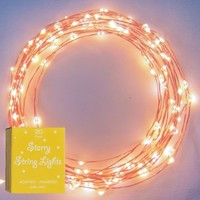 The Original Starry String Lights™ by Brightech - Warm White Color LED's on a Flexible Copper Wire - 20ft LED String Light with 120 Individually Mounted LED's. Set the Mood You Want Anywhere! - Perfect For Creating Instant Appeal in Any Setting - Par