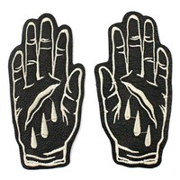 Death Hands Leather Patch Set