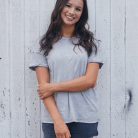 Z Supply THE WASHED COTTON CREW TEE