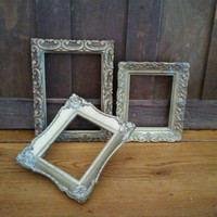 Vintage Ornate Gold Resin Frames Set of 3