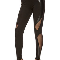 Casual Black Mesh Leggings