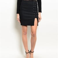 Bella Lace Up Skirt