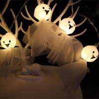 Cute Ghost String LED Lights Party Decor 1.5m