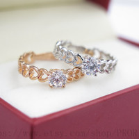 """Set of 2 Heart-shaped Rings """"Big Sis and Lil Sis with a heart"""", big and little sisters ring, forever and always"""