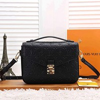 Louis Vuitton LV Women Fashion Shopping Leather Crossbody Satchel Shoulder Bag
