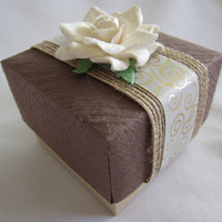 Wedding favor gift box - Wedding place card holder - gift box - handmade - paper - elegant - wedding - rustic elegance