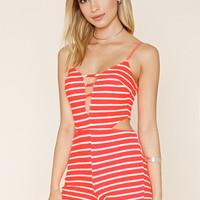 Striped Cami Romper | Forever 21 - 2000238168
