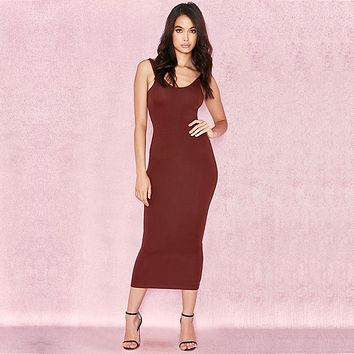 fhotwinter19 Sexy hot style women's hot-selling summer sleeveless lady vest dress