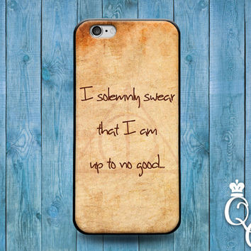 iPhone 4 4s 5 5s 5c 6 6s plus iPod Touch 4th 5th 6th Generation Cool Brown Solemnly Swear Quote Phone Cover Hipster Funny Fun Girl Boy Case