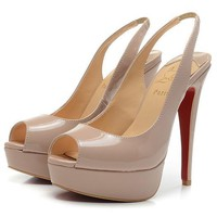 Christian Louboutin Fashion Edgy Red Sole Heels Shoes-1