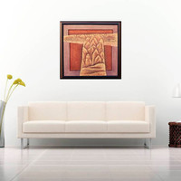 Silk Road Abstract 3D Leather handmade Art Work wall hanging leather