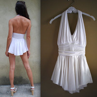 Vintage 70s 80s The Seven Year Itch Marilyn Monroe Skirted Maillot Bathing Suit