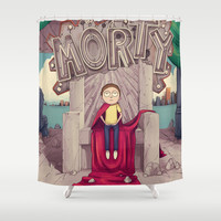 The GOOD Morty Shower Curtain by Engelen
