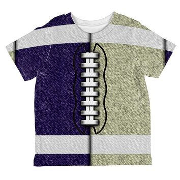 Fantasy Football Team Navy and Gold All Over Toddler T Shirt