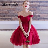 Cocktail Dresses 2020 Pleated Women Formal Prom Party Gown Short Cocktail Dress