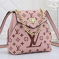 Louis Vuitton LV Woman Fashion Leather Travel Bookbag Shoulder Bag