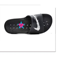 Bedazzled Black  Women Nike Kawa Shower Sport Slides